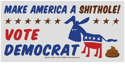 Wholesale Lot Of 10 Make America A Shithole Vote Democrat Anti  Stickers Trump $