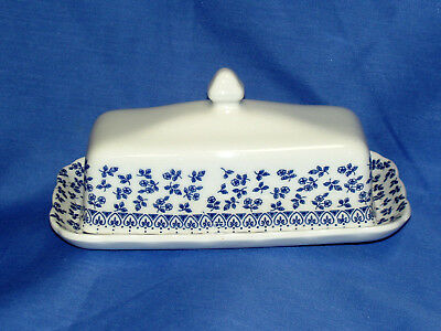 E.I.T. ~PROVENCE BLUE~ COVERED BUTTER~New~Made in England