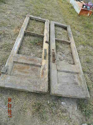 Antique Double Entry Door Set hotel  general store   2 3/4 thick