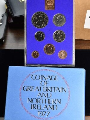 1977 Great Britain & Northern Ireland - 7 Coin Proof Set With Envelope