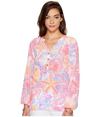 Paradise Pink NWT Lilly Pulitzer Kery Silk Top