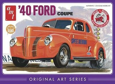 1940 Ford Coupe 1/25 scale skill 2 AMT plastic model kit#850