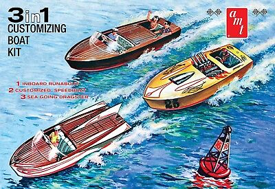Customizing Boat (3-in-1) 1/25 scale AMT plastic model kit #1056