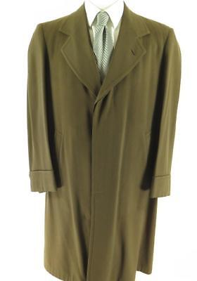Vintage 30s Depression Era Overcoat Covert Button Mens 40 Union Made Town Clad