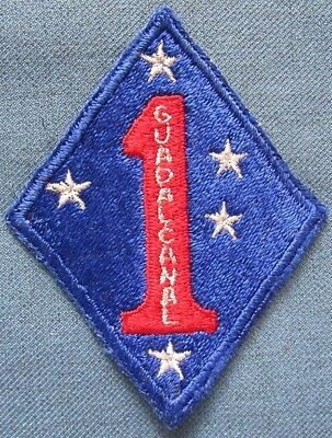 Original WWII US 1st Marine Division shoulder patch