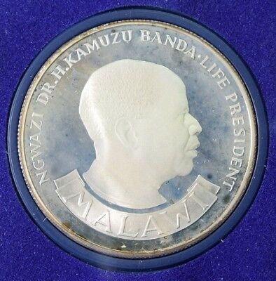 1974 Malawi $10 Kwacha Silver Proof Edition - 10th Anniversary of Independence