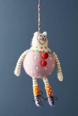 Anthropologie Food Friend Pink Pudding Christmas Ornament