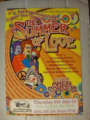 THE SUMMER OF LOVE-A5 FLYER 2006-Starring New Amen Corner THE ROBIN, Wolverhampt