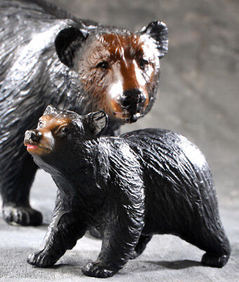 Vintage Original BREYER MOLDING MOTHER BEAR and CUB, BLACK BEARS, GRIZZLY.