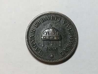 Hungary 1896 2 Filler coin circulated