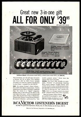 1954 RCA Listener's Digest PRINT AD 45 RPM Record Player Phonograph shown