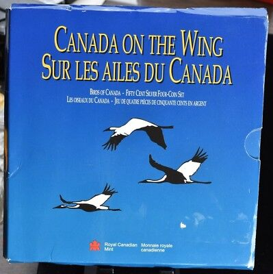 1995 Canada On The Wing - 4 Coin Sterling Silver Set 1.11 oz