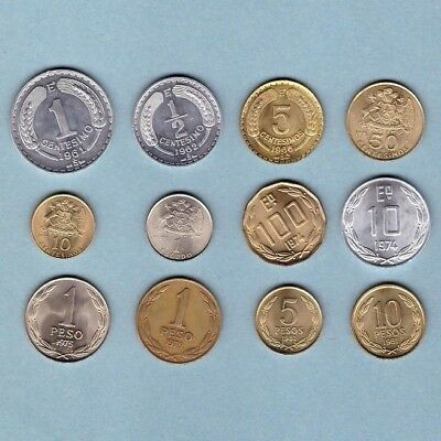 Chile - Coin Collection - Lot # R-3 - World/Foreign/South America
