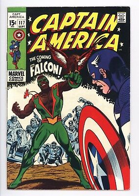 Captain America #117 Vol 1 Near Perfect High Grade 1st Appearance of the Falcon