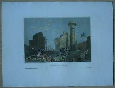 1836 Meyer print RUINS OF THEBES, UPPER EGYPT (#10)