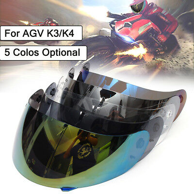 Full Face Motorcycle Helmet Visor Lens Shield UV For AGV K3/K4 Motocross