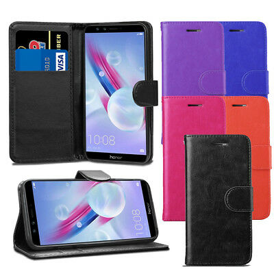 Premium Leather Wallet Flip Case Cover + Film For Huawei Honor 9 Lite Case New