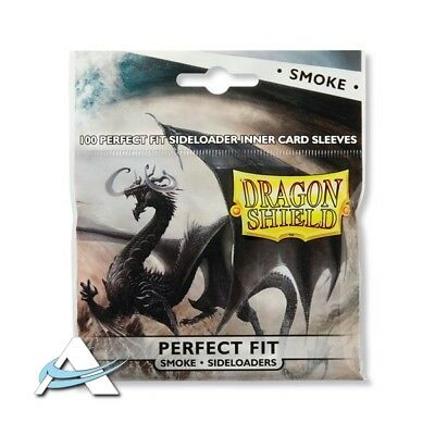 100 Bustine Protettive Standard Size DRAGON SHIELD  Perfect Fit Sideloader SMOKE