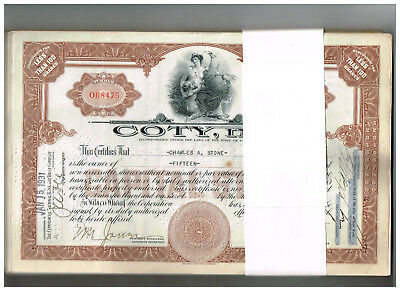 Wholesale-Lot 100 Coty, Inc., 1930-40s, brown, VF