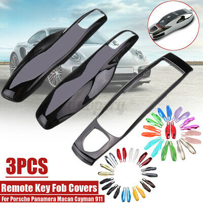 3Pcs ABS Remote Key Fob Case Shell Cover For Porsche Panamera Macan Cayman 911