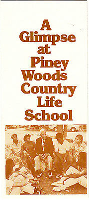A Glimpse At Piney Woods School Piney Woods Mississippi Photos Vintage Brochure