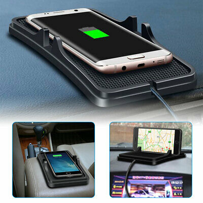 Qi Wireless Charger Car Holder Mount Non-Slip Pad Mat for Samsung S9/S8 iPhone X