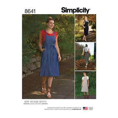 Sew House Seven Womens Pinafore Dress | Simplicity Sewing Pattern 8641