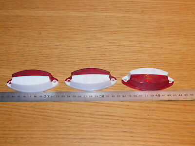 VINTAGE LOT 3 cache SEIMA 02070 02.07.0 727 e2 109 cabochon FEUX light licht RED