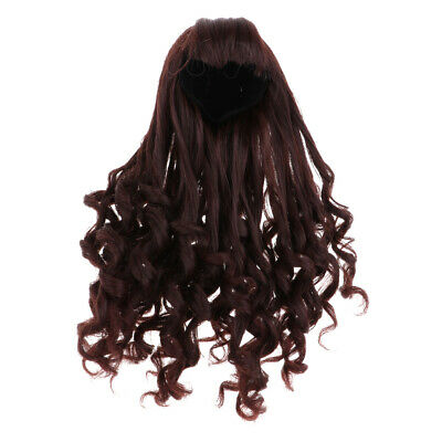 BJD Doll Full Wig 9-10 inch 22-24cm for 1/3 SD DZ DOD LUTS Long Curled Hair