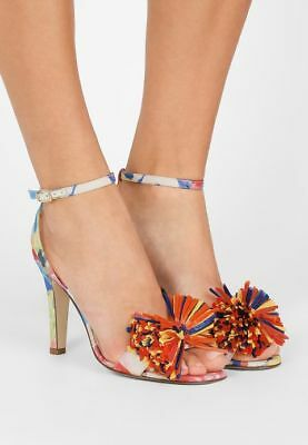 6792b90c84c NIB JCREW  295 Knotted high-heel sandals in Liberty floral sz 7 7.5 ...