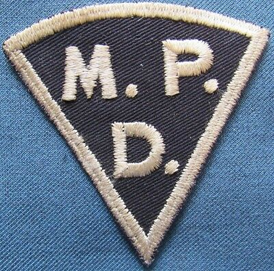 """Pre-WWII US Army """"M.P.D."""" (Military Police Detachment?) patch, emb on twill"""