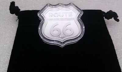 1oz Fine Silver Route 66 In Hwy Sign 2nd Series (Missouri) Capsule,Velvet Pouch