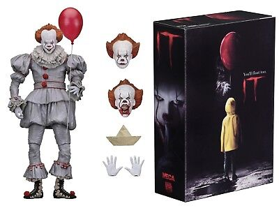 """IT Pennywise 2017 Film Ultimate 7"""" Scale Action Figure NECA IN STOCK"""