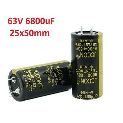 1x 63V 6800uF Amplifier Audio Power Filter Electrolytic Capacitor 105°C 25x50mm