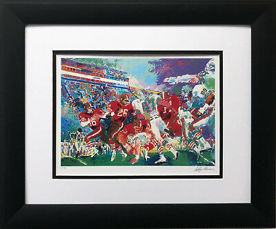 "LeRoy Neiman ""Dolphins vs. 49ers"" FRAMED ART Football Miami San Francisco"