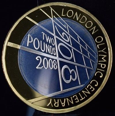 2008 United Kingdom London Olympic Centenary 2 Pound Coin