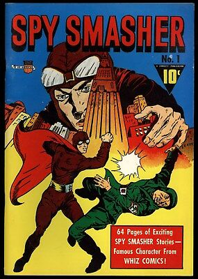 Flashback (1974) #24 Golden Age Reprint Spy Smasher #1 Fawcett Alan Light VF+