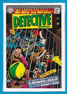 Detective Comics #348_Feb 1966_Fine Minus_Batman_Robin_Birdmaster_Elongated Man!