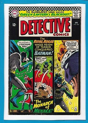 "Detective Comics #350_April 1966_Vg+_Elongated Man_""the Monarch Of Menace""!"