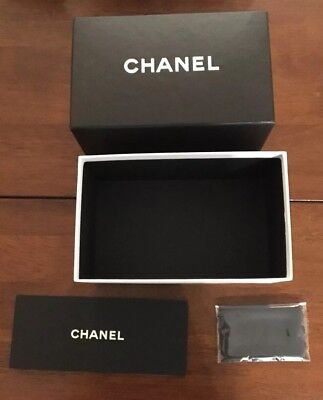 CHANEL Sunglass Sunglasses Case Box Authentic Designer Cleaning Cloth New