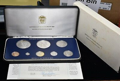 1981 Panama Proof 8 Coin Set ASW .709 oz Silver