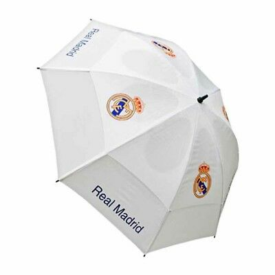 Real Madrid Football Club White Double Canopy Golf Umbrella Free UK P&P