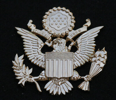 Great Seal Usa Gold Hat Pin Up Bald Eagle Arrows Peace Us Wreath Washington Dc