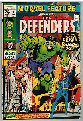 Marvel Feature #1 1971 Origin 1St Appearance Defenders Bronze Age First Issue!