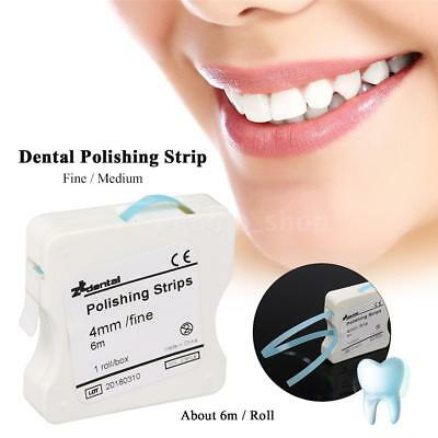 Resin Tooth Polishing and Finishing Strips Sanding Grinding 4mm*6M/Box T8E0
