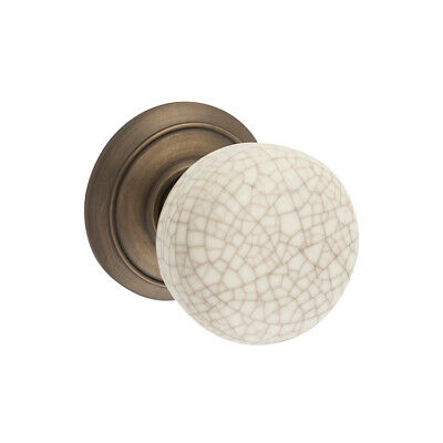 Tradco 9244+ Porcelain Door Knob on Rose - Available in Multiple Finishes