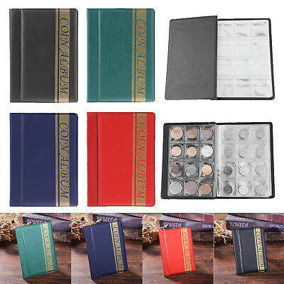 Durable 120 Coin Album Collection Book Holder Collectors Save Money Penny Cases