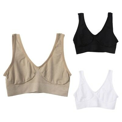 Womens Seamless Wireless Unpadded Sports Bra Yoga Workout Bralette Single Layer
