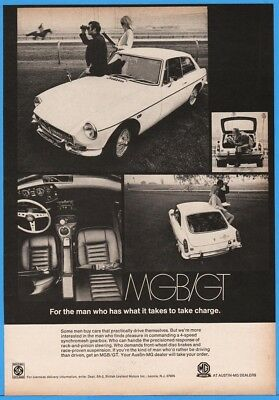 1969 Austin MG MGB GT For The Man Who Has What It Takes To Be In Charge Photo Ad