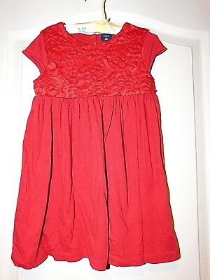 eba8e9844 BABY GAP Girls S/S Floral Red Valentines Day Dress Size 4T 1 of 5FREE  Shipping See More